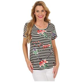 "Damen-Ringelshirt ""Ahoy"" multicolor"