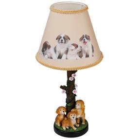 Tischleuchte Hundewelpen 42cm bemalt