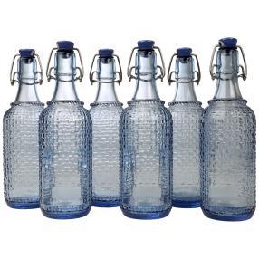 Bügelverschlussflaschen 6er Set, je 0,5 Liter