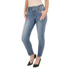 "Jet-Line Damen-Jeans ""I Love Spring"" light blue"