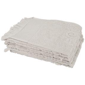 Handtuch silber mit Fransen 4er-Set