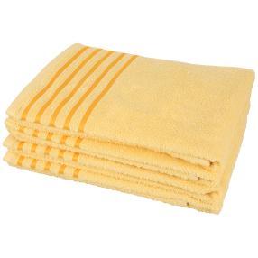 Handtuch gelb Streifen 4er-Set
