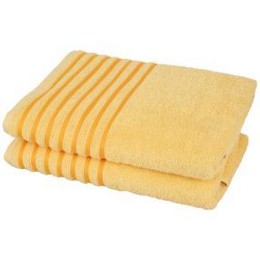 Duschtuch gelb Streifen 2er-Set