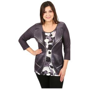 "BRILLIANT SHIRTS Damenshirt ""Black Jet"", schwarz"