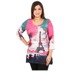 """BRILLIANTSHIRTS Damenshirt """"Pink Paris"""""""
