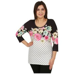 "BRILLIANTSHIRTS Damenshirt ""Dotty Rose"" multicolor"
