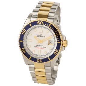 """DELMA """"Commodore"""" Chronometer Bicolor weiss"""