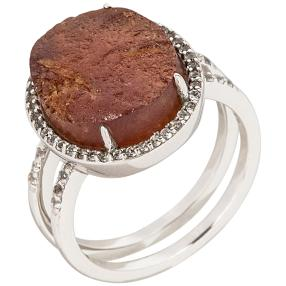Ring 925 Sterling Silber Hessonit