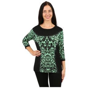 """IMAGINI Damen-Pullover """"Sorrento"""" schwarz/grün"""