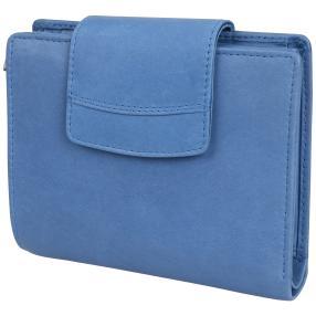 TESORO Börse RFID-Schutz blau