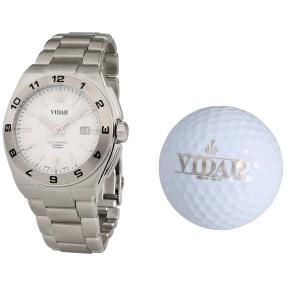 """VIDAR Herren-Automatikuhr """"Golf Impact"""" weiß"""