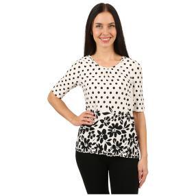 IMAGINI Damen-Shirt 'Cosenza' weiß/schwarz