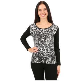 IMAGINI Damen-Shirt 'Olbia' schwarz/weiß