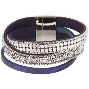 crystal blue Magnet Armband Alexandria Glitzer