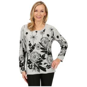 Damen-Pullover 'Bilbao' weiß/schwarz