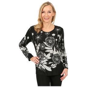 Damen-Pullover 'Bilbao' schwarz/weiß