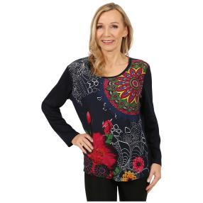 Damen-Pullover 'Girona' marine/multicolor