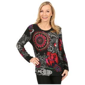 Damen-Pullover 'Pamplona' schwarz/multicolor