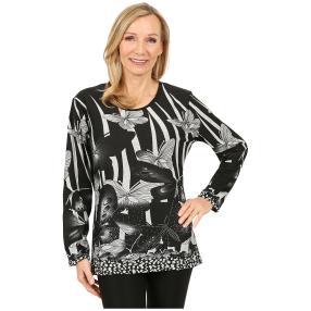 Damen-Pullover 'Almeria' schwarz/weiß