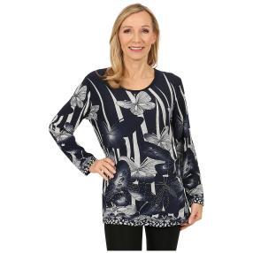 Damen-Pullover 'Almeria' marine/weiß