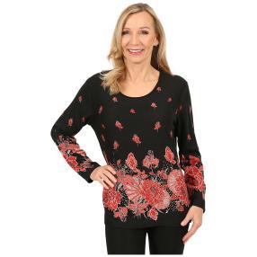 Damen-Pullover 'Toledo' schwarz/rot