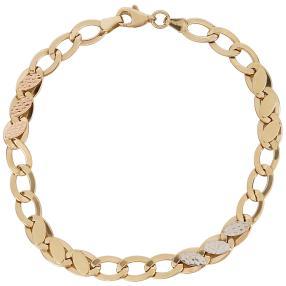 Ankerarmband 585 Gelbgold/Weißgold/Roségold