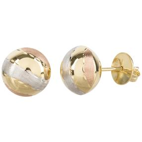 Ohrstecker 585 Gold tricolor