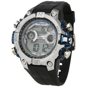 "Burgmeister Herrenuhr ""Digital Power"" stahl-blau"