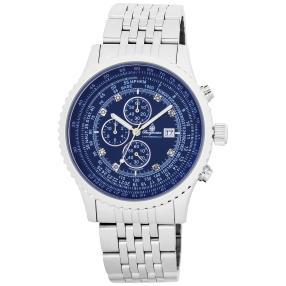 "Burgmeister Herren-Chronograph ""Savannah"" blau"