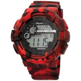 "Burgmeister Digital-Herrenuhr ""Halifax"" rot"