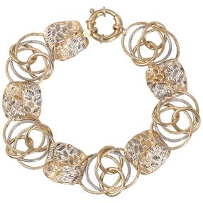 Fantasie-Armband 585 Gelbgold/Weißgold