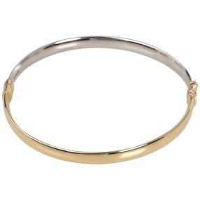 Armreif 585 Gelbgold/Weißgold