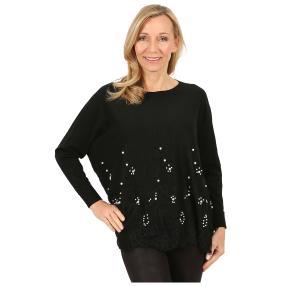 Damen-Longpullover 'Deluxe' schwarz