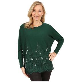 Damen-Longpullover 'Deluxe' dunkelgrün