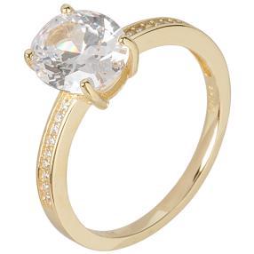 Ring 925 Sterling Silber vergoldet mit Zirkonia