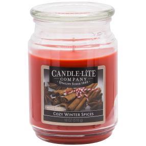 """Candle-Lite Duftkerze """"Winterdüfte"""", rot"""