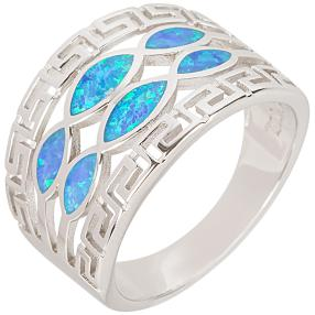 Ring 925 Sterling Silber Opal synthetisch