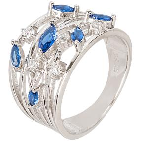 "Ring 935 Silber Zirkonia blau ""VIP"""