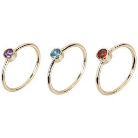 """3x Ring 935 Silber vergoldet Zirkonia """"VIP"""""""