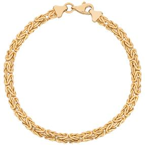 Königsarmband 916 Gelbgold ca. 19 cm