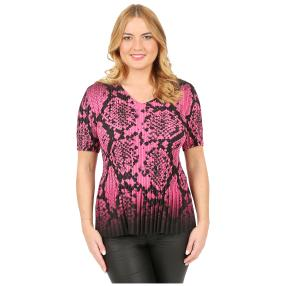 Jeannie Plissee-Shirt 'Madrid' pink