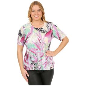 Jeannie Plissee-Shirt 'Barcelona' multicolor