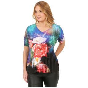 Jeannie Plissee-Shirt 'Valencia' multicolor
