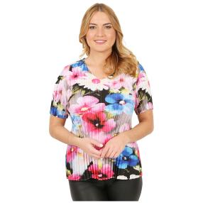Jeannie Plissee-Shirt 'Bilbao' multicolor