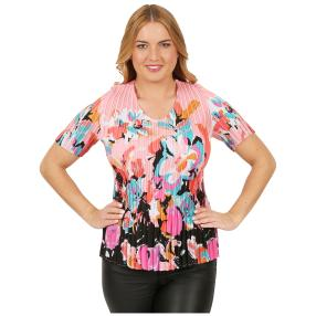 Jeannie Plissee-Shirt 'Cordoba' multicolor