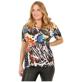 Jeannie Plissee-Shirt 'Mataro' multicolor