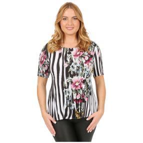 Jeannie Plissee-Shirt 'Torrent' multicolor