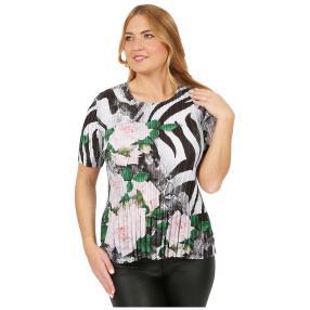 Jeannie Plissee-Shirt 'Campos' multicolor