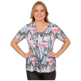 Jeannie Plissee-Shirt 'Lucena' multicolor