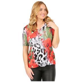 Jeannie Plissee-Shirt 'Calvia' multicolor